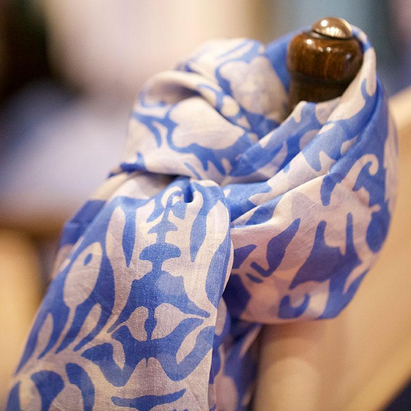 blauw-witte-shawl